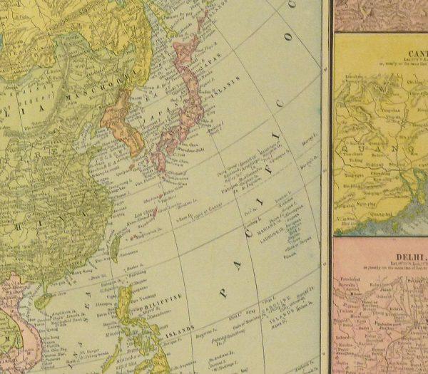 Asia Map, 1890-detail-8208K