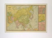 Asia Map, 1890-matted-8208K