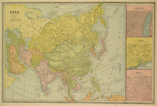 Asia Map, 1890-main-8208K