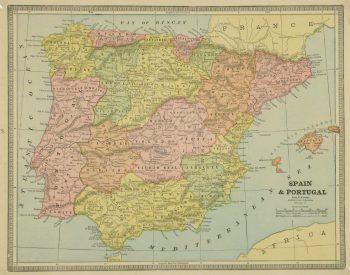 Spain & Portugal, 1890-main-8212K