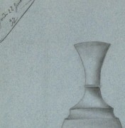 Drawing - Blue Vase, 1897-detail-8225K