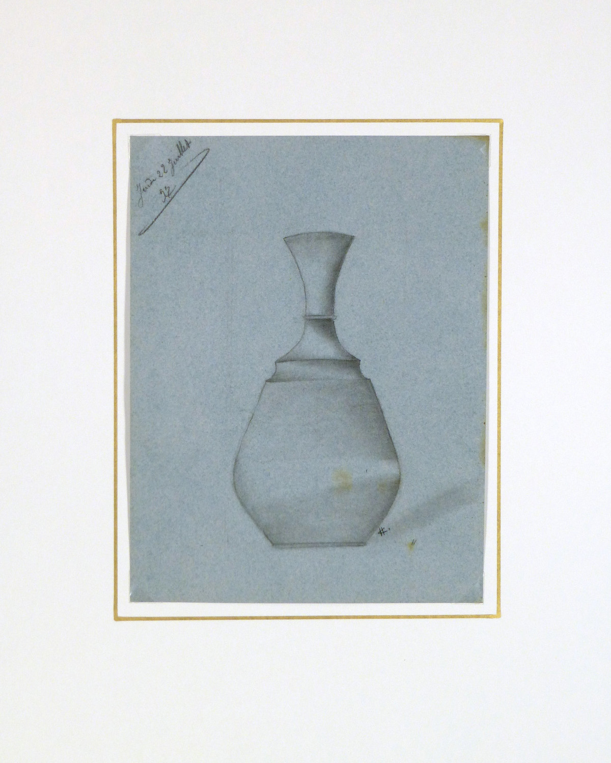 Drawing - Blue Vase, 1897-matted-8225K