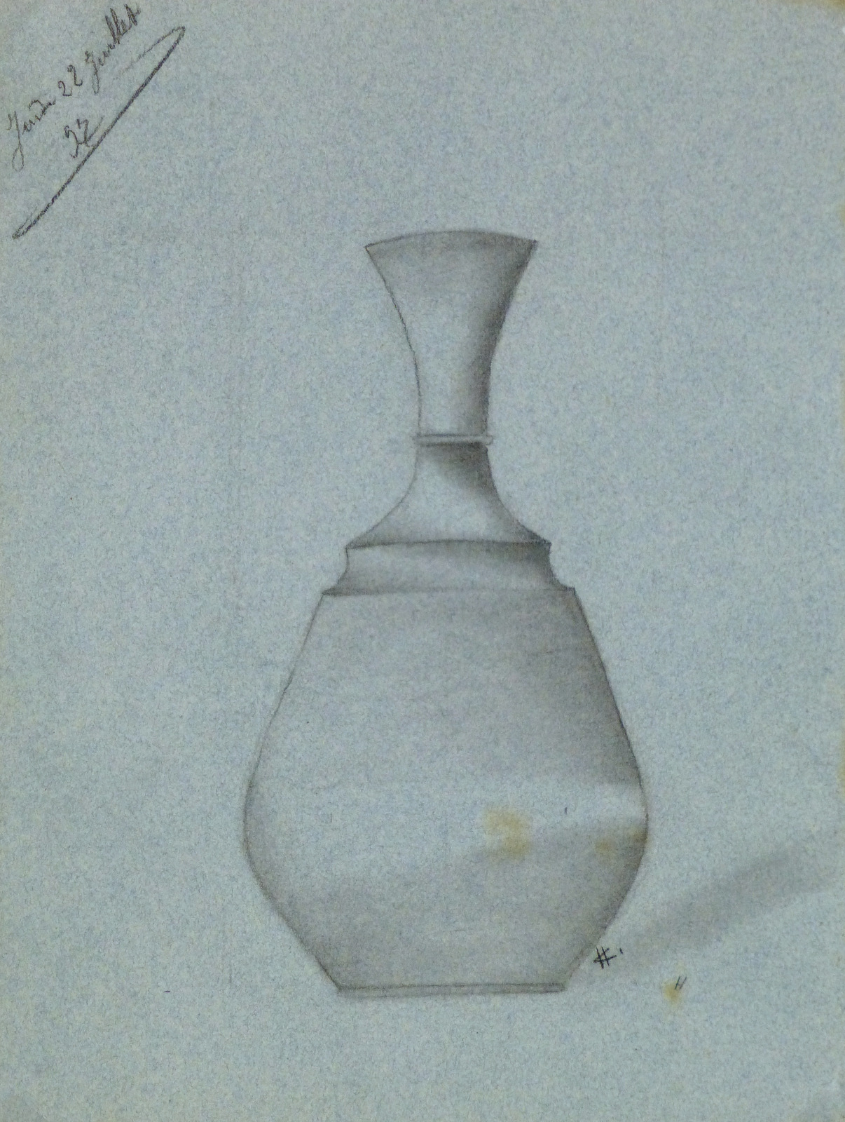 Drawing - Blue Vase, 1897-main-8225K