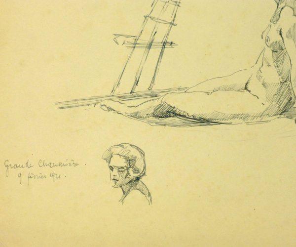 Nude Sketch, 1921-detail-8226K