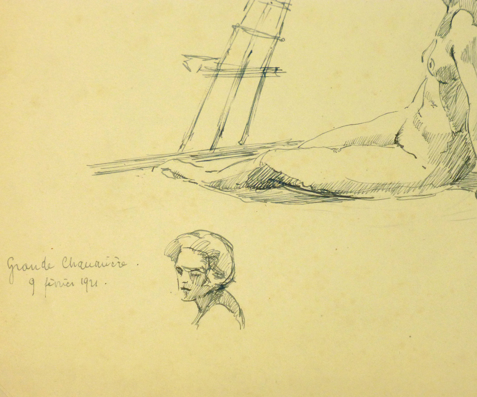 Nude Sketch, 1921-detail-8226K