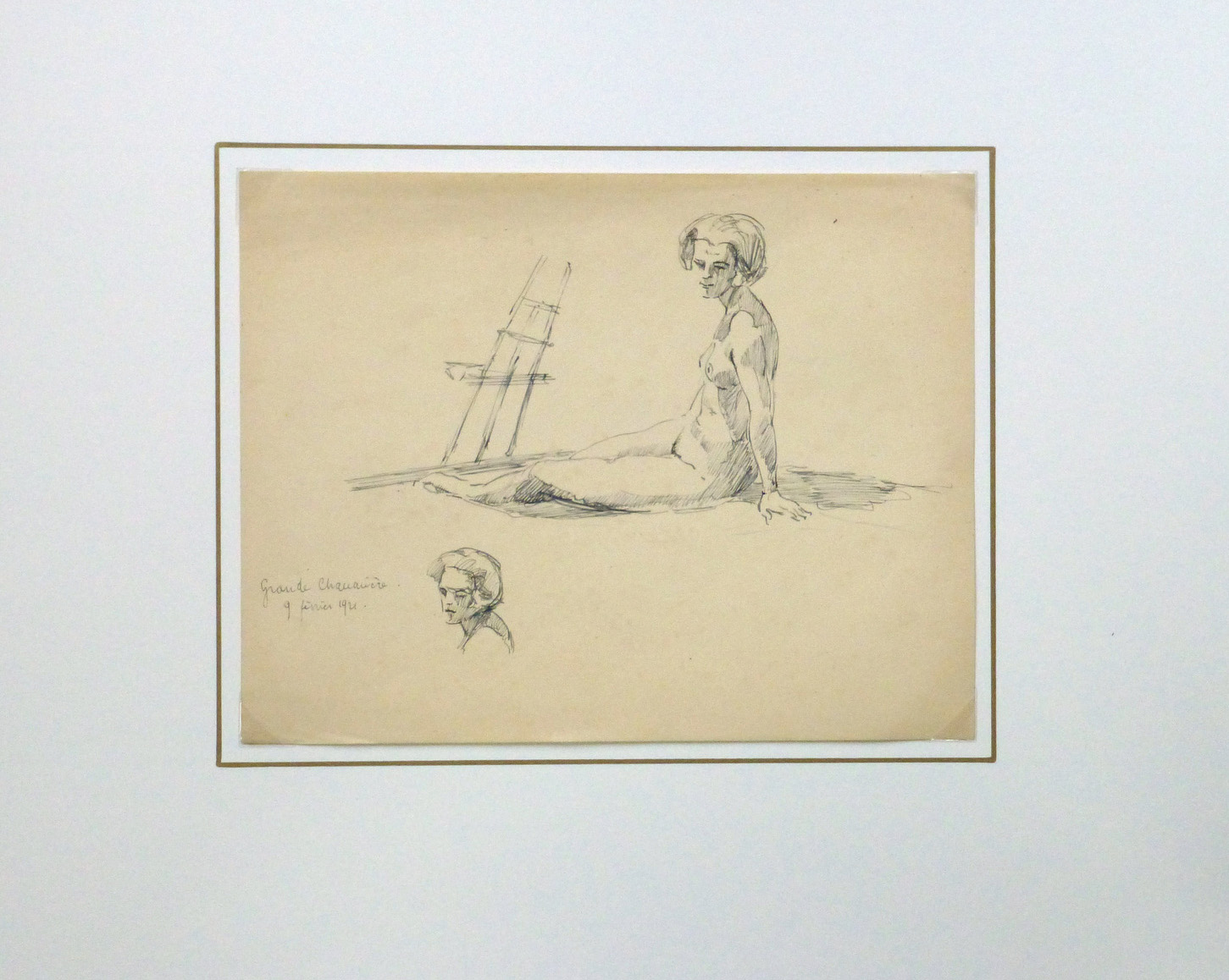 Nude Sketch, 1921-matted-8226K