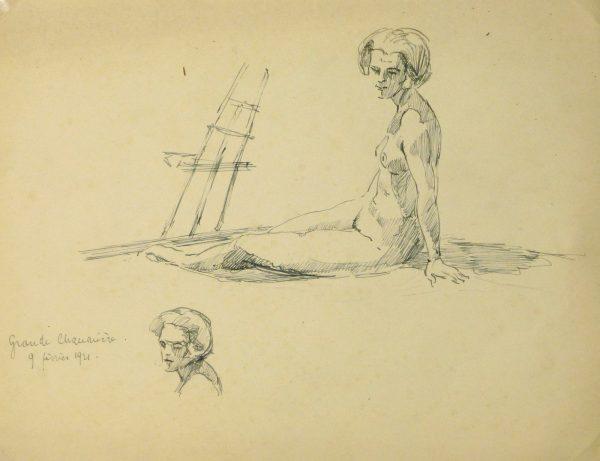 Nude Sketch, 1921-main-8226K