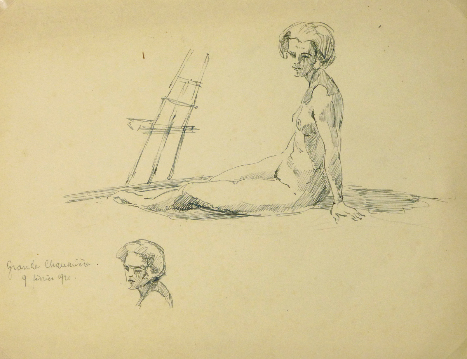 Nude Sketch, 1921-main-8226K