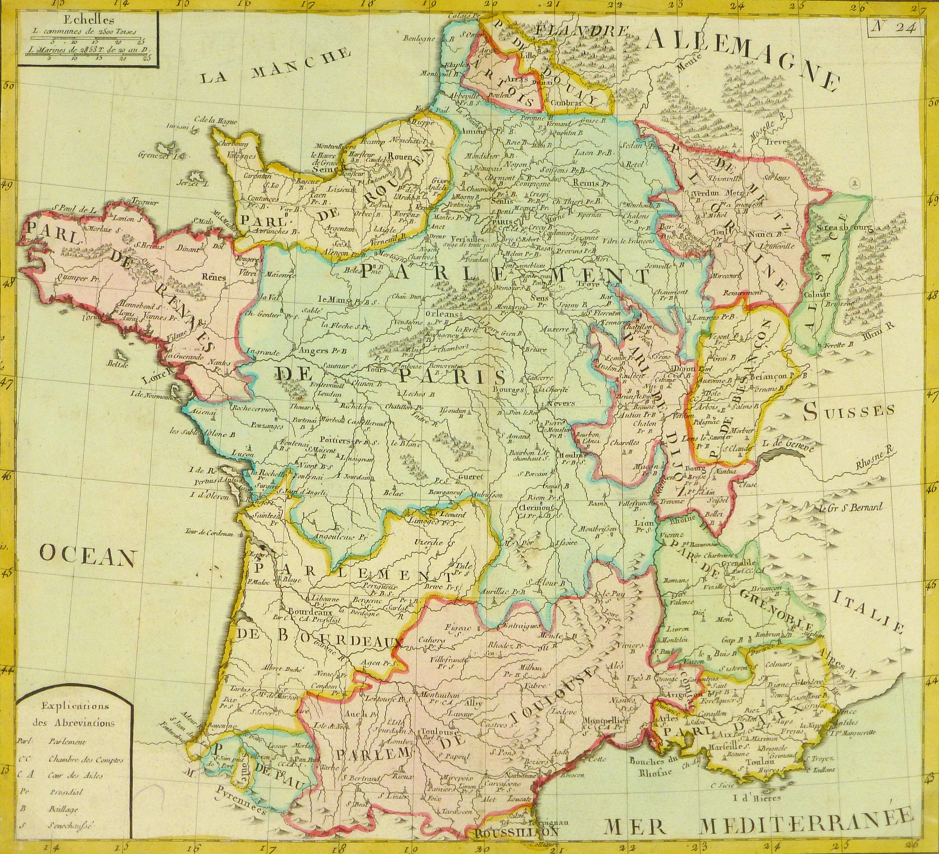Map Of France During The French Revolution.Map Of France 1783