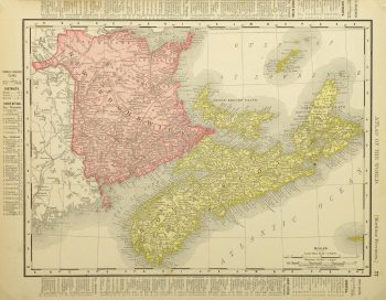 Maritime Provinces, Canada Map, 1895-main-8553K