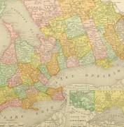Ontario, Canada Map, 1895-detail-8556K