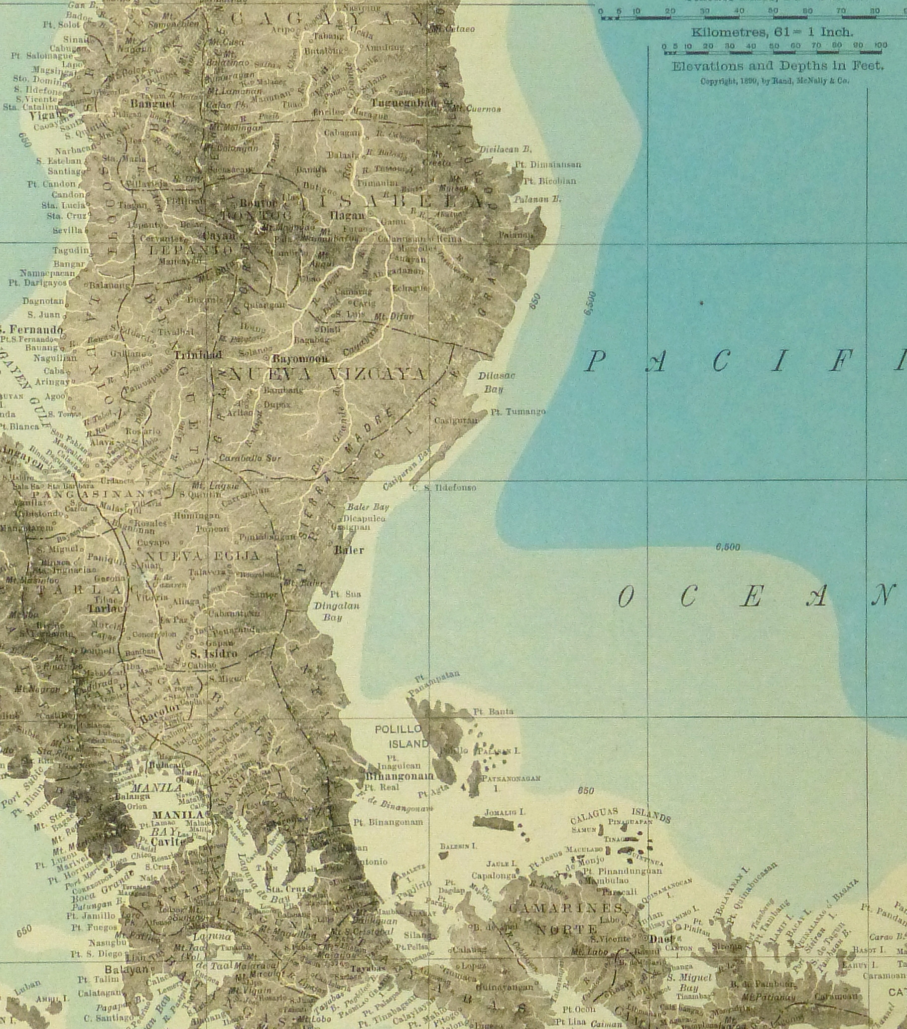 Luzon Island, Philippines Map, 1895-detail-8557K