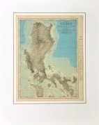 Luzon Island, Philippines Map, 1895-matted-8557K