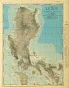 Luzon Island, Philippines Map, 1895-main-8557K