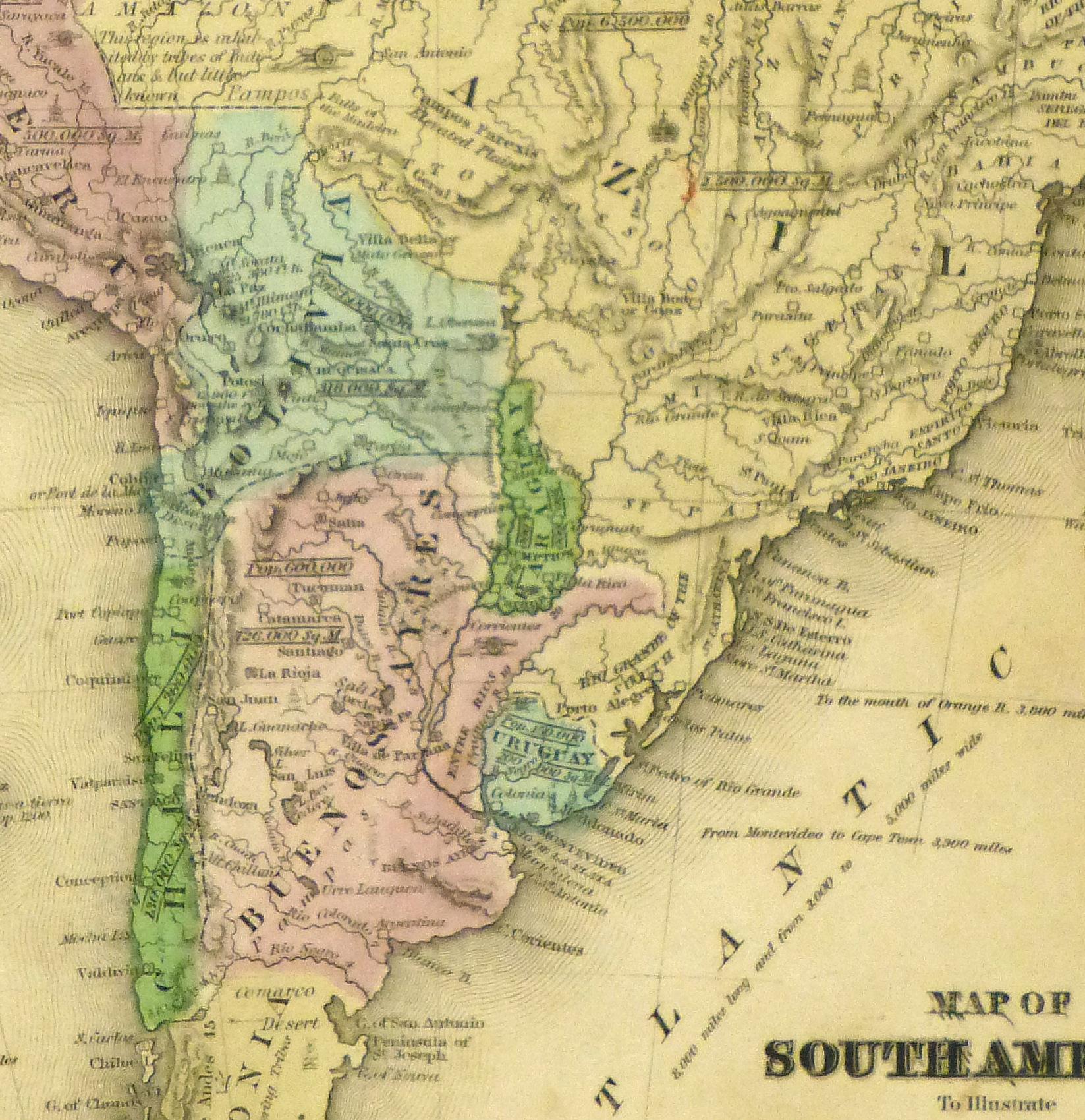 South America Map, 1844-detail-8561K