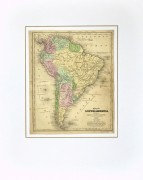 South America Map, 1844-matted-8561K