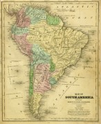 South America Map, 1844-main-8561K