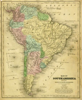 South America Map, 1844-main-8561K