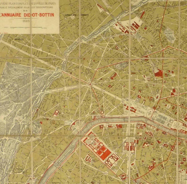 Paris World Fair Map 1889 Original Art Antique Maps Prints