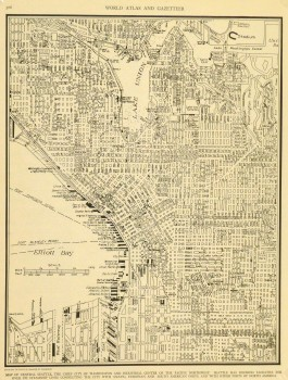 Central Seattle Map, 1937-main-8673K