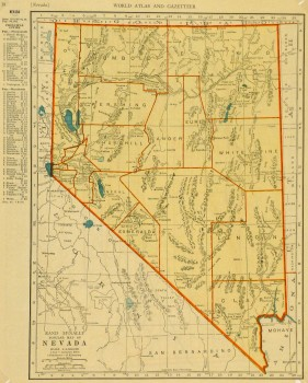 Map of Nevada, 1937-main-8704K