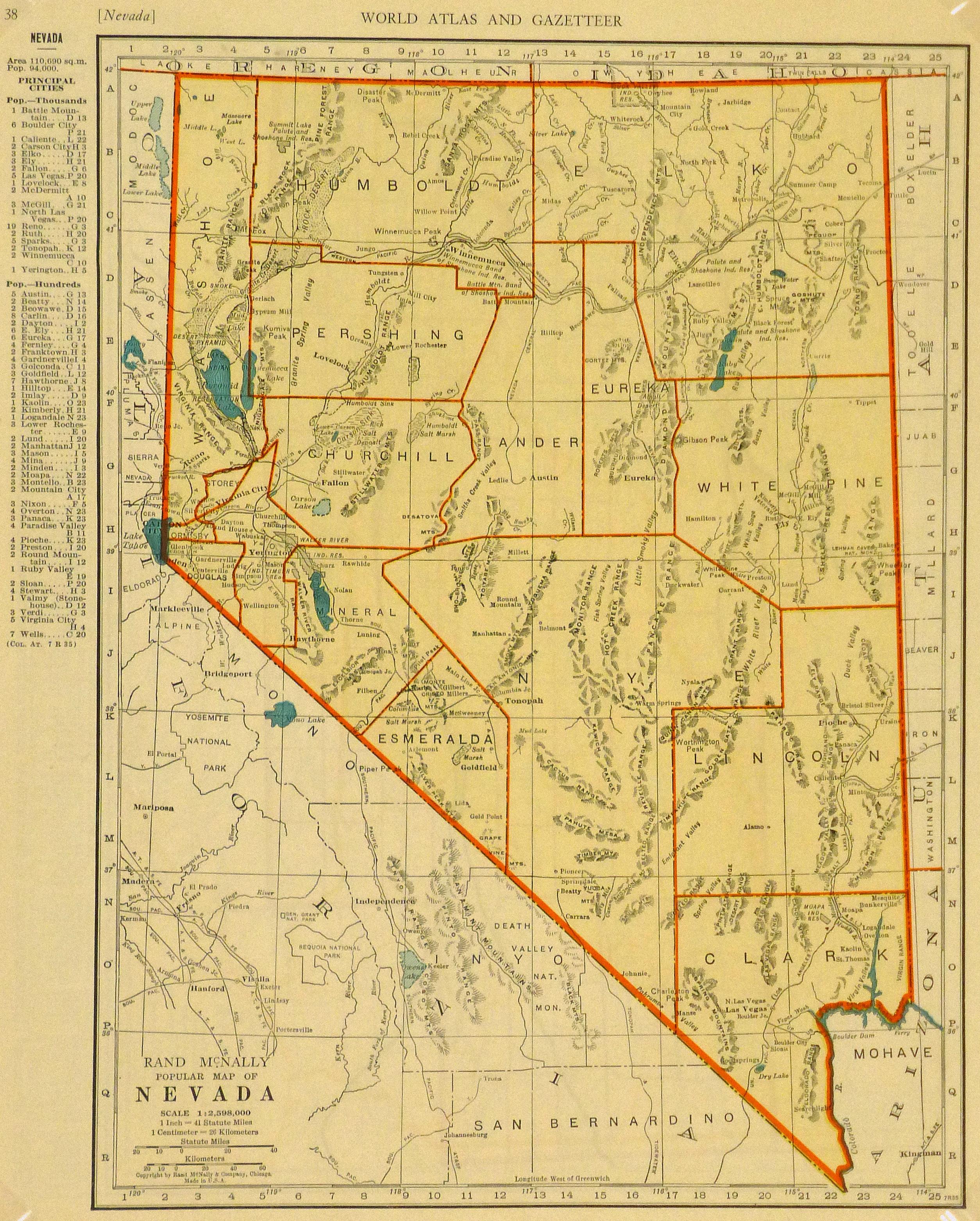 Map of Nevada, 1937-main-8704K