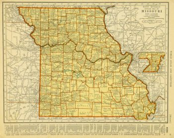 Map of Missouri, 1937-main-8705K