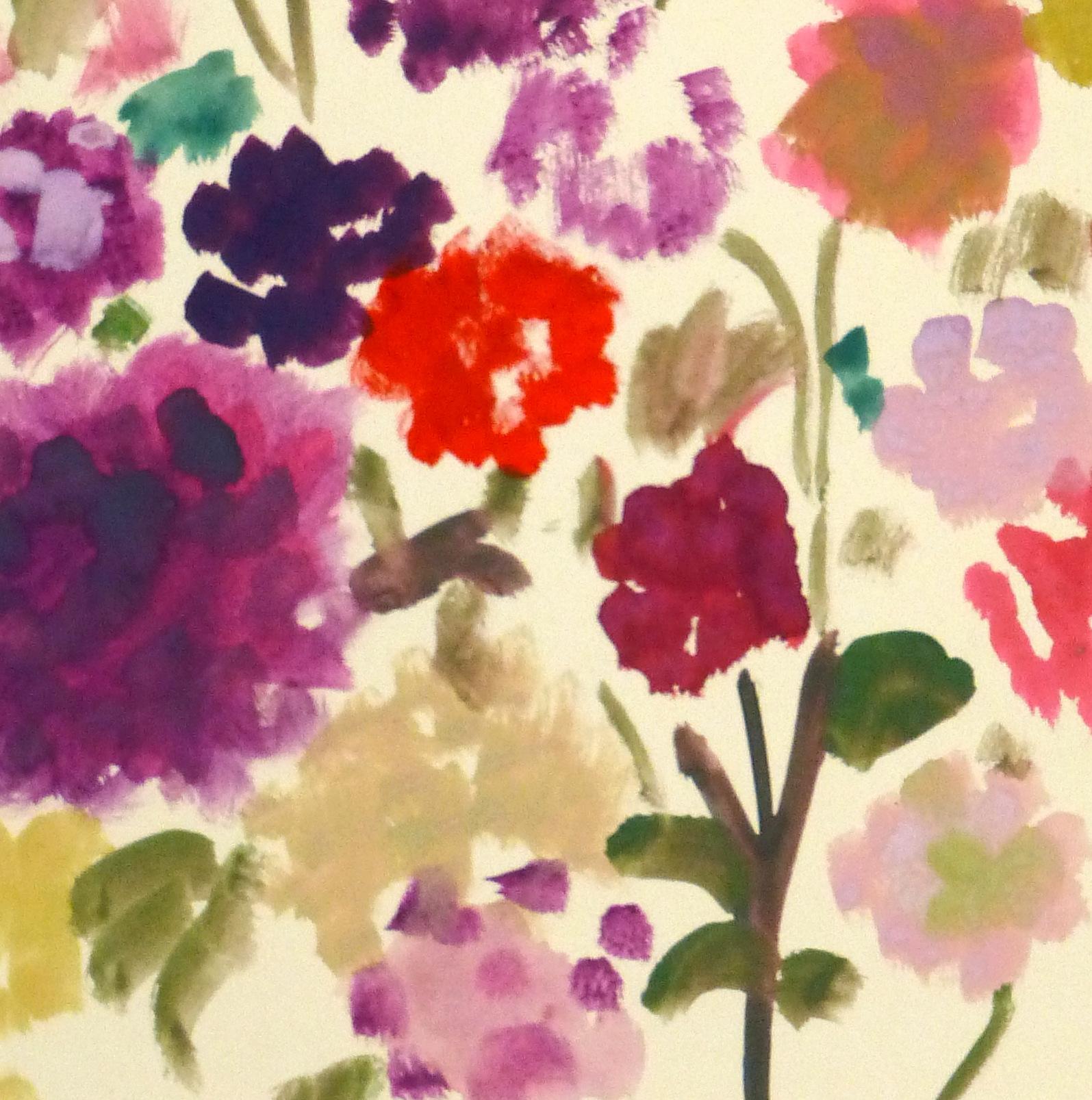 Acrylic Still-Life- Field Flowers, Circa 1960-detail-8744K