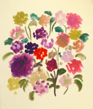 Acrylic Still-Life- Field Flowers, Circa 1960-main-8744K