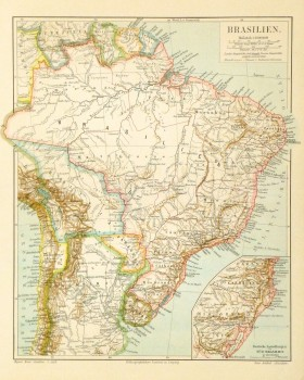 Brazil Map, Circa 1880-main-8808K