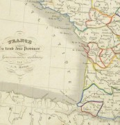 France Map, 1842-detail 2-8983K