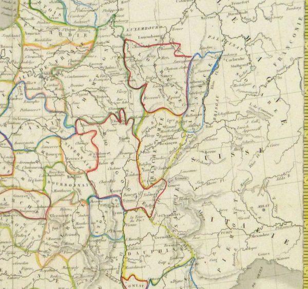 France Map, 1842-detail-8983K