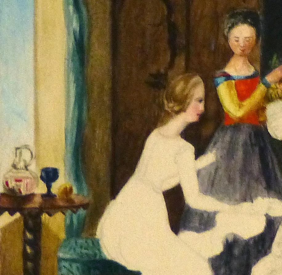Watercolor - Ladies, Circa 1870-detail-9118K
