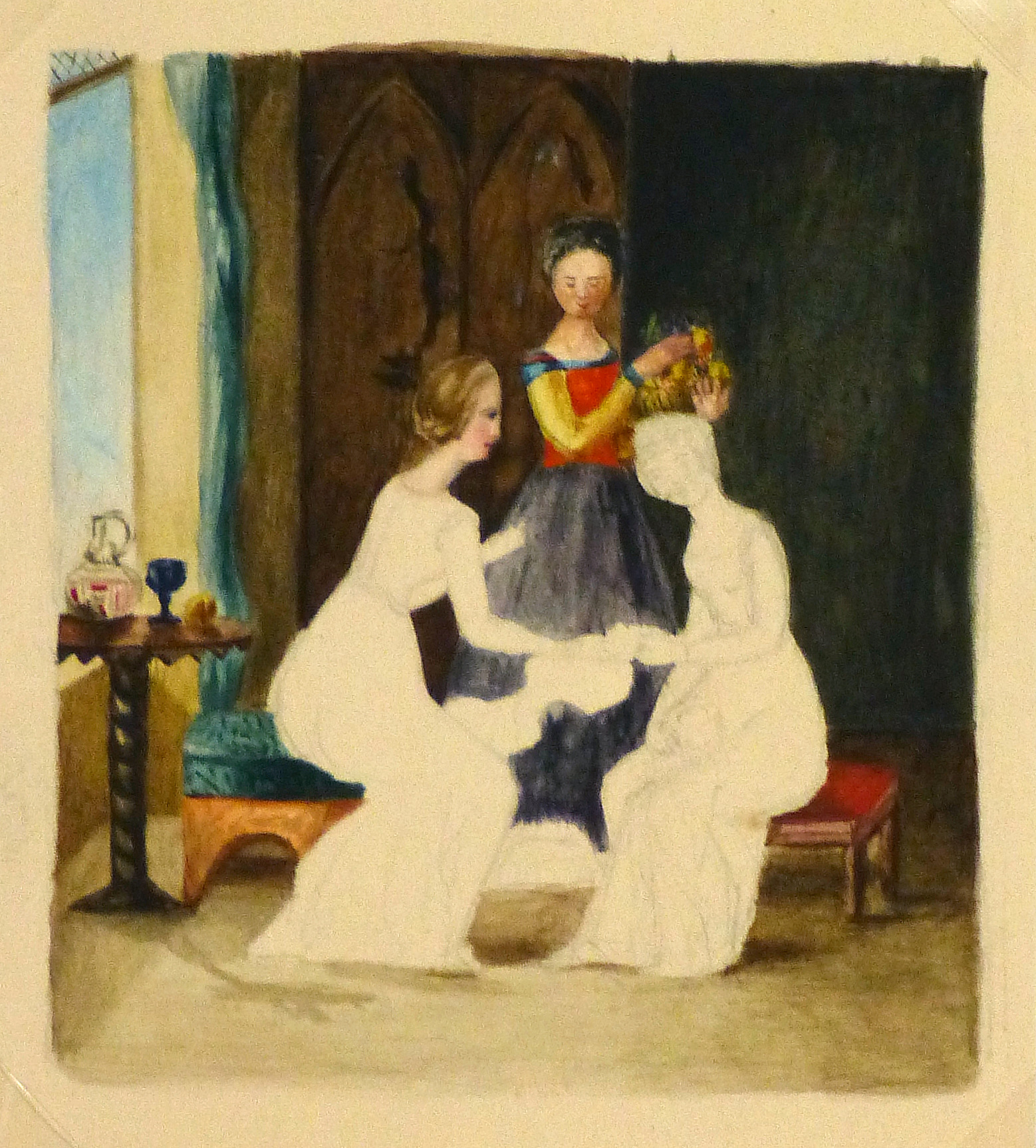 Watercolor - Ladies, Circa 1870-main-9118K