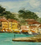Watercolor - St. Tropez, 1938-detail-9124K