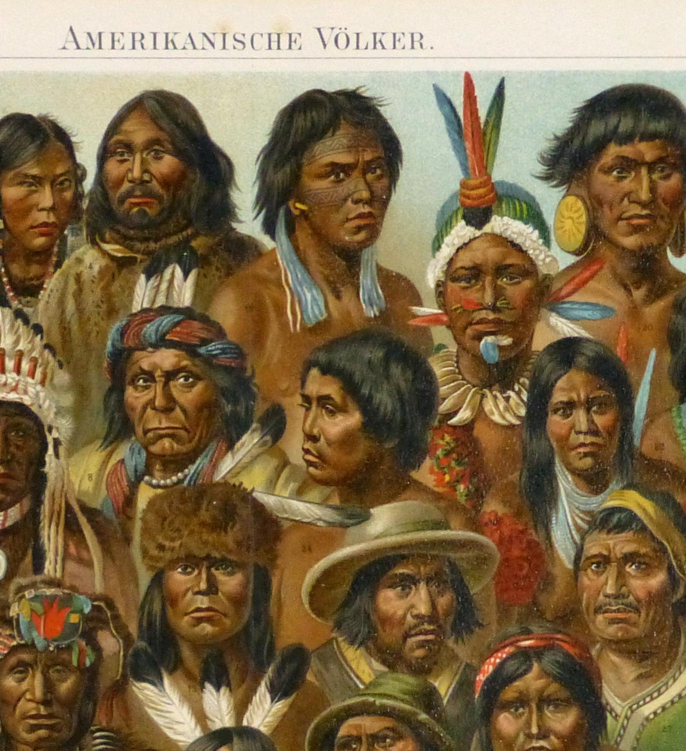 Native Americans Print, 1886-detail 2-9129K