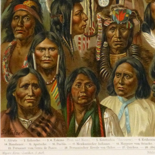 Native Americans Print, 1886-detail-9129K