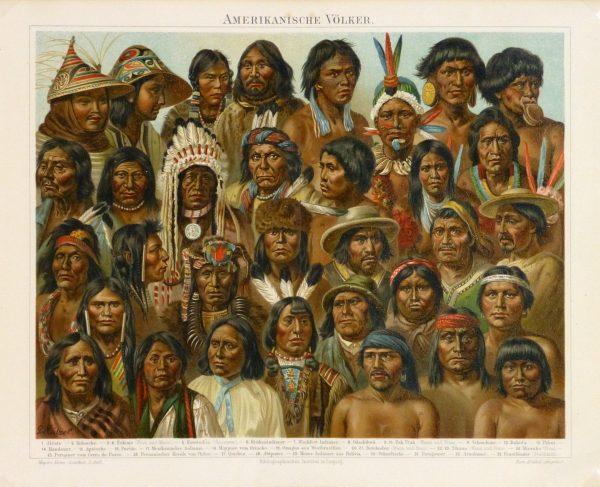 Native Americans Print, 1886-main-9129K