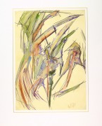 Watercolor - Organic Abstract-matted-9133K