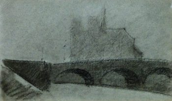 Notre Dame Paris Drawing, Circa 1910-main-9209K