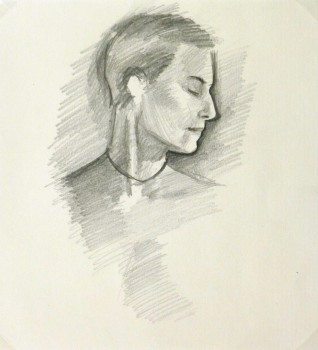 Pencil Portrait - Female Profile-main-9220K