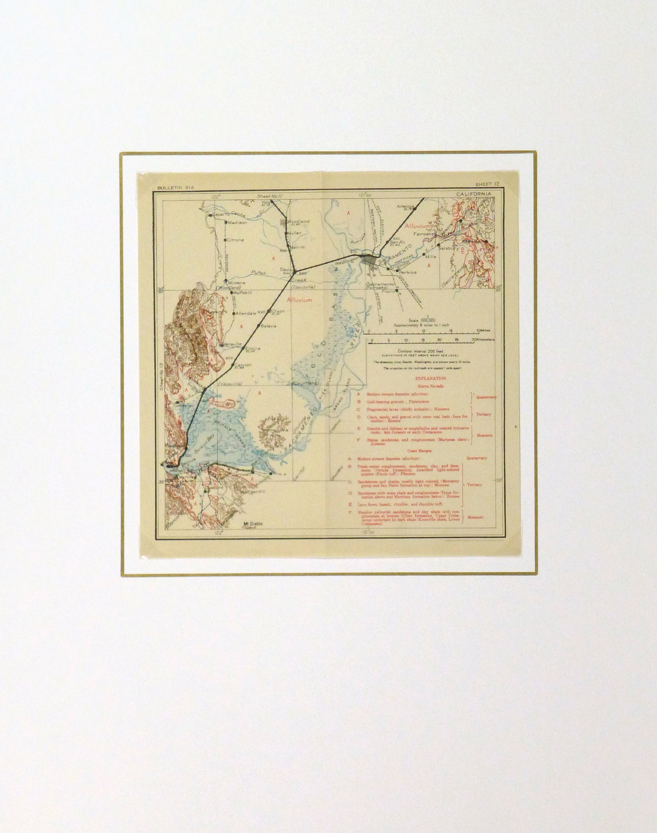 Map - Sacramento Valley, 1915-matted-9225K