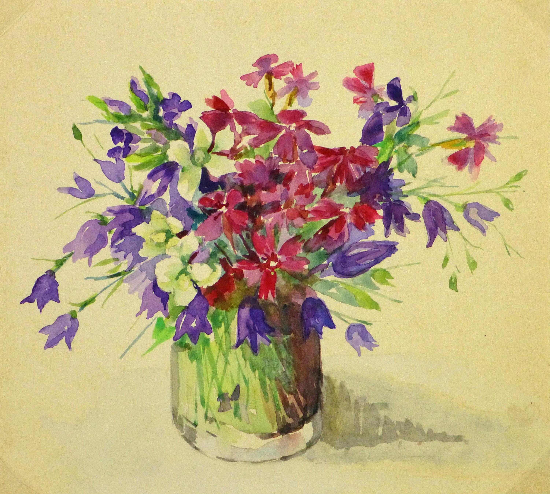 Watercolor - Bouquet, Circa 1930-main-9284K