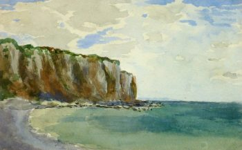 Watercolor Seascape - Falaise du Crépant, 1893-main-9290K
