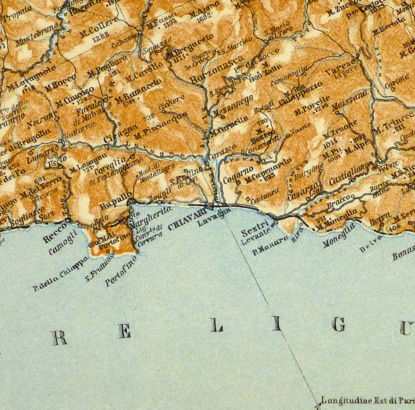 Genova & Spezia Map, 1928-detail-9343K