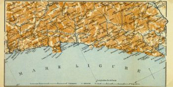 Genova & Spezia Map, 1928-main-9343K