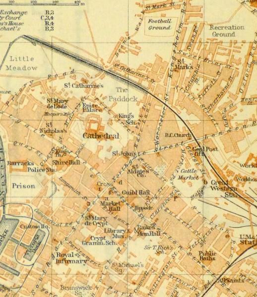 Gloucester England Map, 1927-detail-9344K