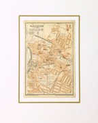 Gloucester England Map, 1927-matted-9344K
