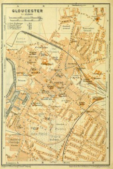 Gloucester England Map, 1927-main-9344K