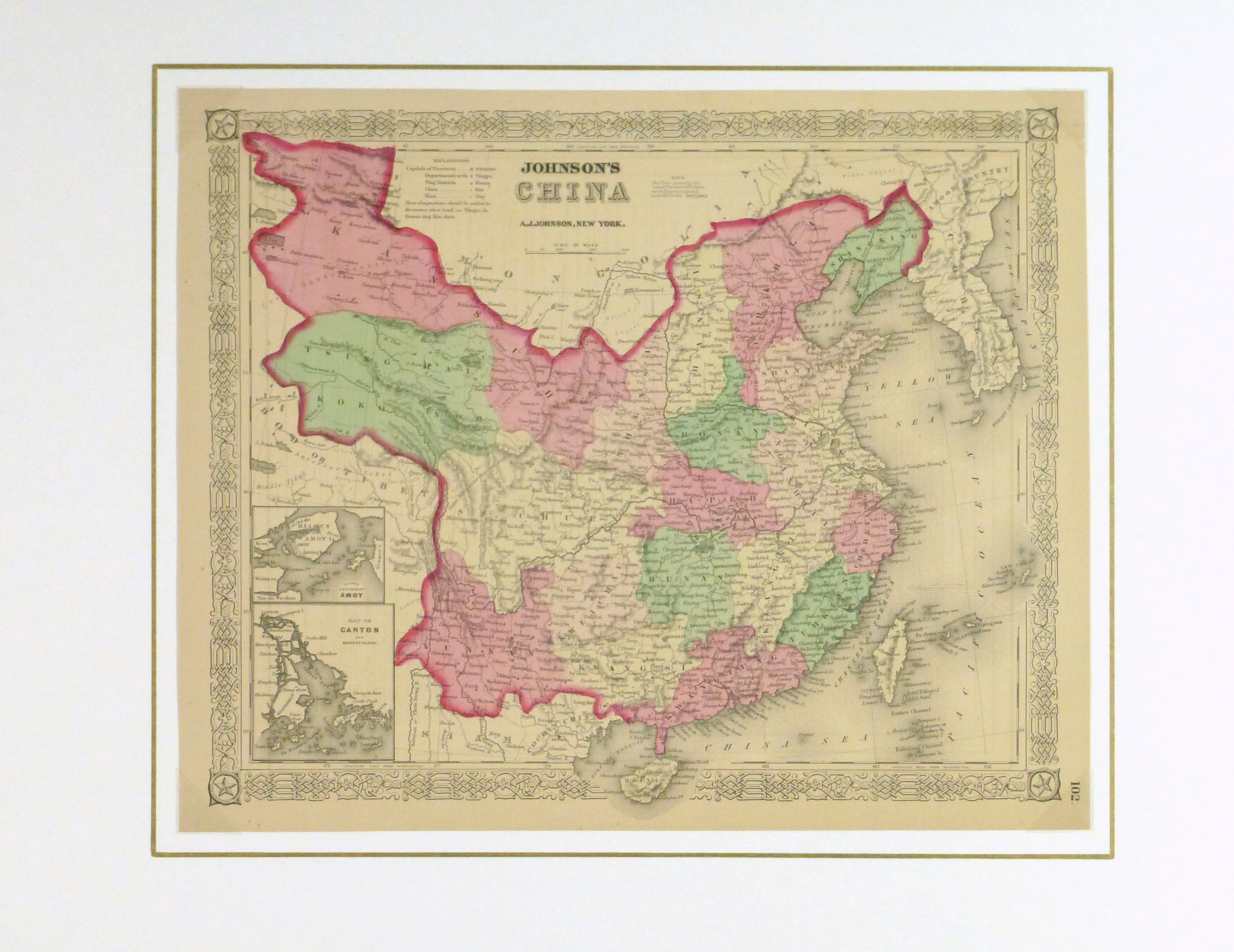 China map 1868 original art antique maps prints china map 1868 gumiabroncs Images